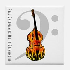 Real Bass Players Do It Stand Tile Coaster
