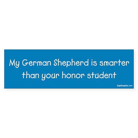 German Shepherd/Honor Student Bumper Sticker