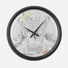Funny Pelican Large Wall Clock