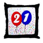 21st Birthday Throw Pillow