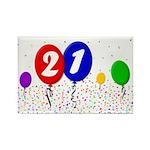 21st Birthday Rectangle Magnet (100 pack)
