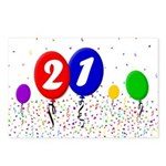 21st Birthday Postcards (Package of 8)