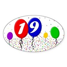 19th Birthday Oval Decal