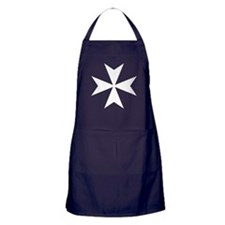 White Maltese Cross Apron (dark)