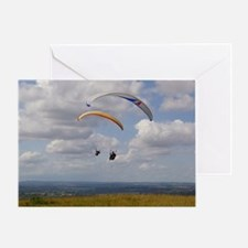 Tandem gliding Greeting Card