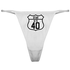 Route 40 Shield - Utah Classic Thong