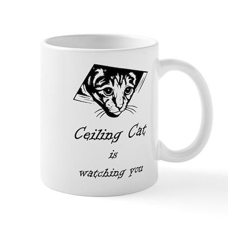 Ceiling Cat is Watching You Mug