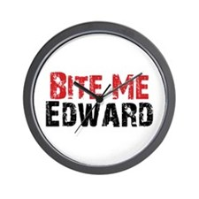 Bite Me Edward Wall Clock