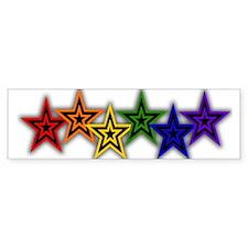 Gay Stars Bumper Bumper Sticker