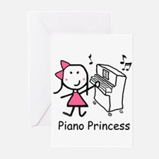 Piano - Princess Greeting Cards