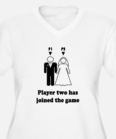 player2 black Plus Size T-Shirt