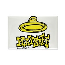 Condom Play Safe (right) Rectangle Magnet (10 pack