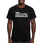 Work: a dangerous disorder Men's Fitted T-Shirt (d
