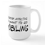 Work: a dangerous disorder Large Mug