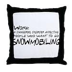 Work: a dangerous disorder Throw Pillow