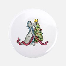 "Christmas Dragon Color 3.5"" Button"