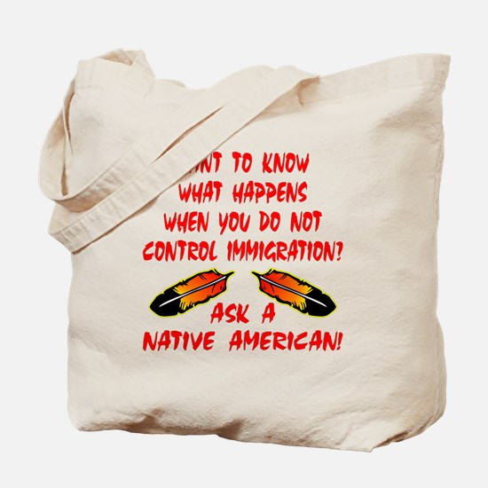 Controling Immigration Tote Bag