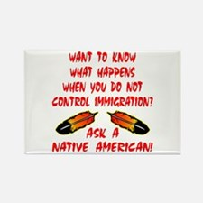 Controling Immigration Rectangle Magnet
