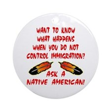 Controling Immigration Ornament (Round)