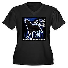 Jacob Black Women's Plus Size V-Neck Dark T-Shirt