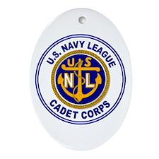 Navy League Color Oval Ornament