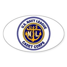 Navy League Color Oval Decal