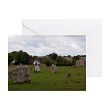 Cloudy Avebury Greeting Card