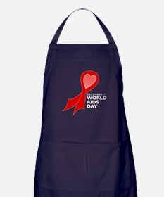 Worlds AIDS Day Red Ribbon Apron (dark)