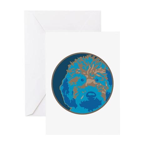 Labradoodle 2- Greeting Card