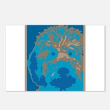 Labradoodle 2- Postcards (Package of 8)