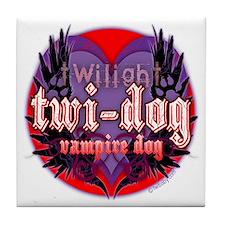 Twilight Twi-Dog Vampire Dog Tile Coaster