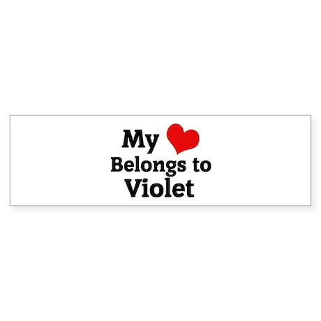 My Heart: Violet Bumper Sticker