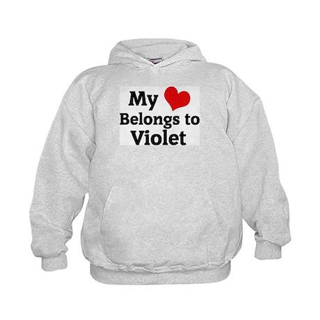 My Heart: Violet Kids Hoodie