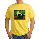 Saxon Swallow Pigeon Yellow T-Shirt