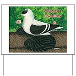 Saxon Swallow Pigeon Yard Sign