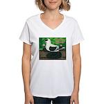 Saxon Swallow Pigeon Women's V-Neck T-Shirt