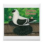 Saxon Swallow Pigeon Tile Coaster