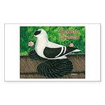 Saxon Swallow Pigeon Rectangle Sticker 50 pk)