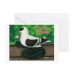 Saxon Swallow Pigeon Greeting Cards (Pk of 10)