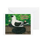 Saxon Swallow Pigeon Greeting Card