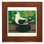 Saxon Swallow Pigeon Framed Tile