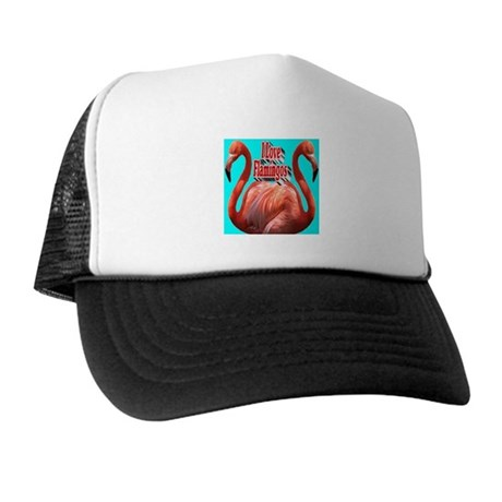 I Love Flamingos Trucker Hat