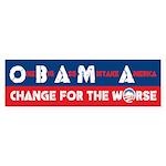 Change for the Worse Bumper Sticker (50 pk)