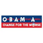 Change for the Worse Bumper Sticker (10 pk)