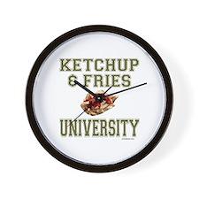 KETCHUP/FRIES Wall Clock