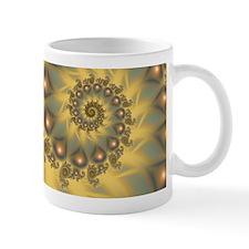 Golden Fiddle Fractal Mug