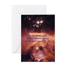"""""""Universe of Peace"""" Greeting Card (singl"""