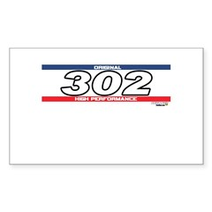 302 X Rectangle Decal