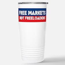 Free Markets Stainless Steel Travel Mug