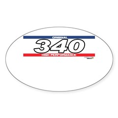 340 X Oval Sticker (10 pk)